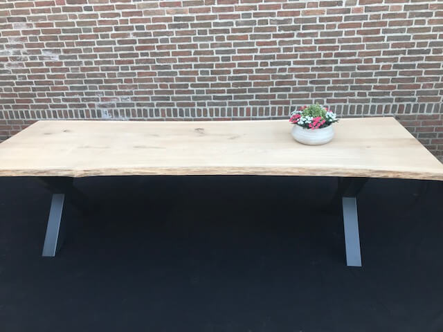 Boomstam tafelblad op maat groenentafels